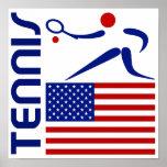 Tenis, Estados Unidos Impresiones