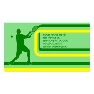 tenis: estilo retro: tarjetas de visita
