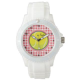 Tenis; Guinga roja y blanca Reloj