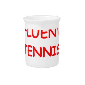 tenis jarra para bebida