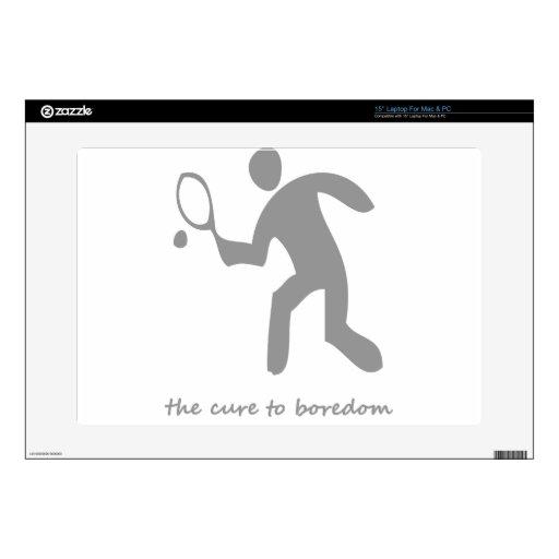 Tenis….la curación al aburrimiento portátil 38,1cm skin