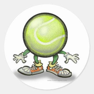 Tenis Pegatina Redonda