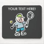 Tenis personalizado Mousepad con el dibujo animado