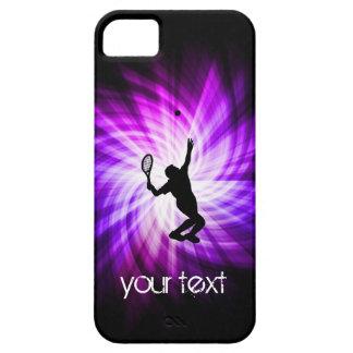 Tenis púrpura fresco iPhone 5 cobertura