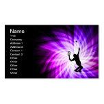 Tenis púrpura fresco tarjetas personales