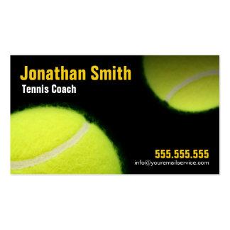 Tenis que entrena para la instrucción del tenis tarjetas de visita