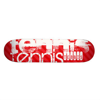 Tenis; Rayas del rojo del escarlata Monopatin Personalizado