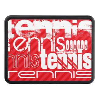 Tenis; Rayas del rojo del escarlata Tapas De Tráiler