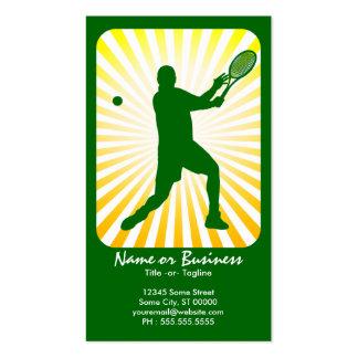 tenis: rayos retros: tarjetas de visita