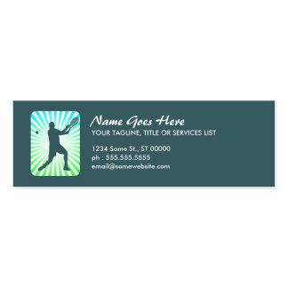 tenis: rayos retros: tarjetas de visita mini