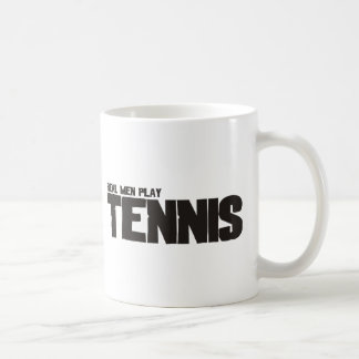 Tenis real del juego de los hombres taza de café