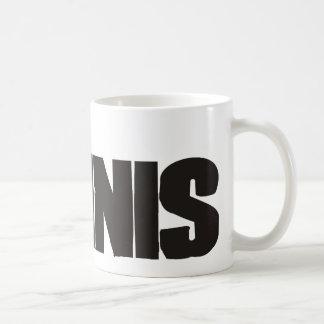 Tenis real del juego de los hombres tazas de café
