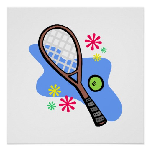 Tenis retro poster