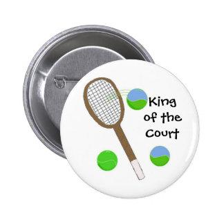 Tenis - rey de la corte pin redondo de 2 pulgadas