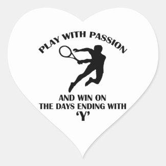 tenis sobre hierba calcomania corazon personalizadas