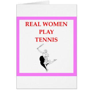 tenis tarjeta de felicitación