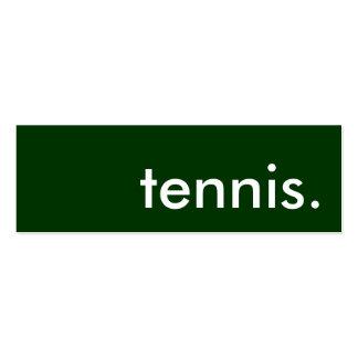 tenis tarjeta personal