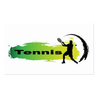 Tenis único (varón) tarjetas de visita