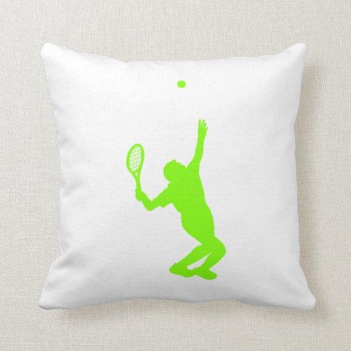 Tenis verde chartreuse, de neón cojines