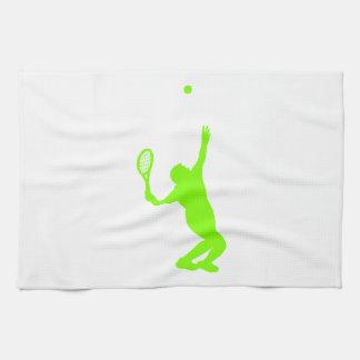 Tenis verde chartreuse, de neón toallas