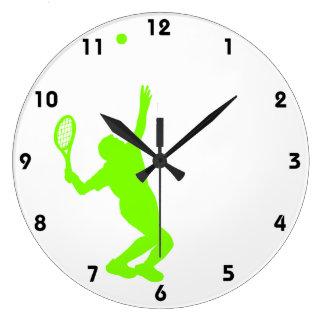 Tenis verde chartreuse, de neón reloj