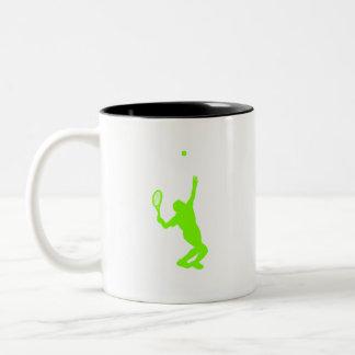 Tenis verde chartreuse, de neón tazas de café