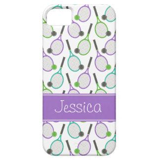 Tenis verde púrpura de muy buen gusto del trullo p iPhone 5 Case-Mate carcasa