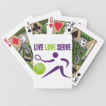 Tenis: Vivo. Amor. Servicio Barajas De Cartas