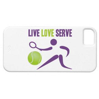 Tenis: Vivo. Amor. Servicio iPhone 5 Case-Mate Funda