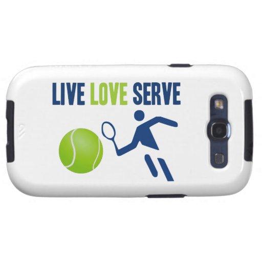 Tenis: Vivo. Amor. Servicio Galaxy SIII Cárcasas