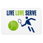 Tenis: Vivo. Amor. Servicio Imanes Flexibles