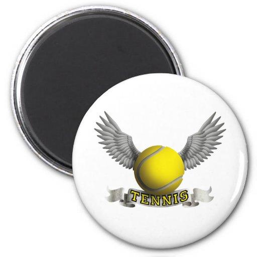 Tenis wings a imán redondo 5 cm