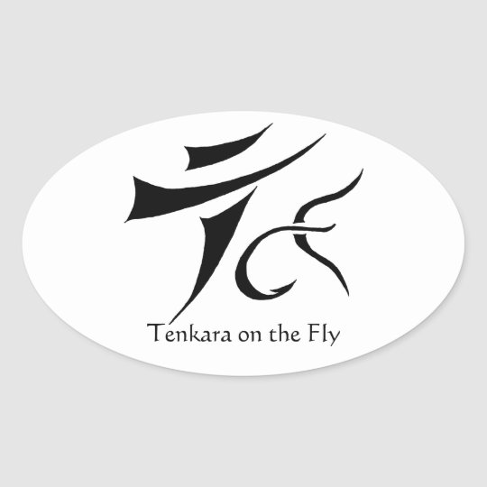 Tenkara on the Fly Oval Sticker