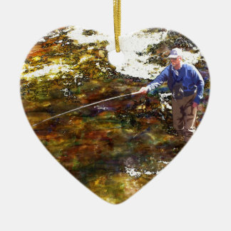 Tenkara Winter Ceramic Ornament