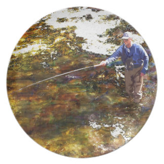 Tenkara Winter Dinner Plate