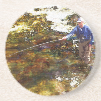 Tenkara Winter Drink Coaster