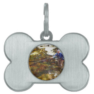 Tenkara Winter Pet Name Tag