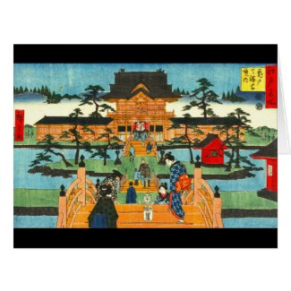 Tenmangu Shrine 1853 Large Greeting Card