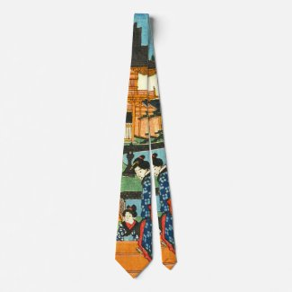 Tenmangu Shrine 1853 Neck Tie