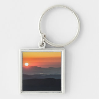 Tennant Mt, Graveyard Fields area, sunrise Silver-Colored Square Keychain