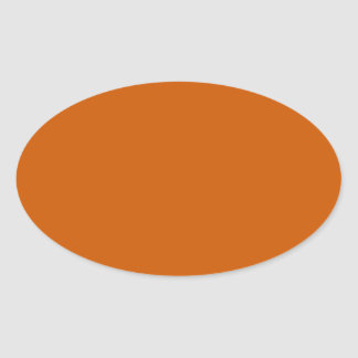 Tenne Orange Oval Sticker