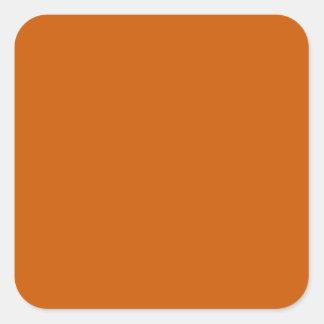 Tenne Orange Square Stickers