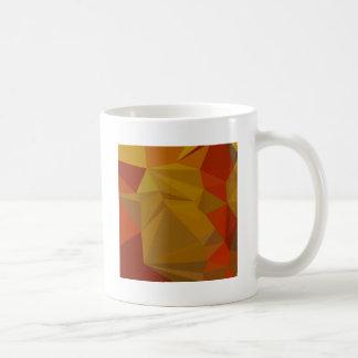 Tenne Tawny Orange Abstract Low Polygon Background Coffee Mug