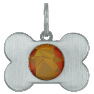 Tenne Tawny Orange Abstract Low Polygon Background Pet Tag