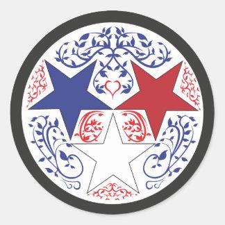 Tennesee Sticker, Patriotic Classic Round Sticker