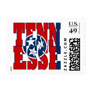 Tennesse  state flag text postage