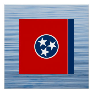 Tennessean Flag Floating on water Poster