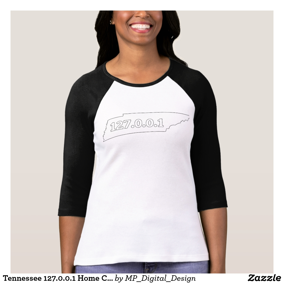 Tennessee 127.0.0.1 Home Computer Nerd IP Address T-Shirt - Best Selling Long-Sleeve Street Fashion Shirt Designs