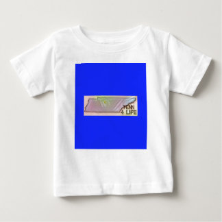 """""""Tennessee 4 Life"""" State Map Pride Design Baby T-Shirt"""