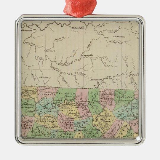 Tennessee 4 metal ornament